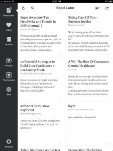 """Instapaper 4.1 Articles View"""